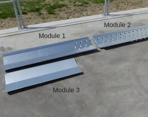 Steel plates in sections