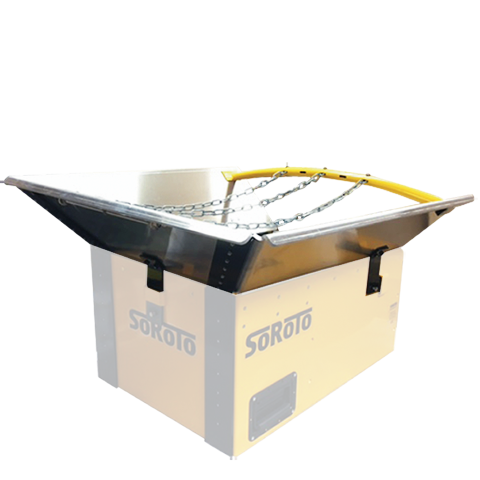 Infeed Hopper for Wheelbarrow